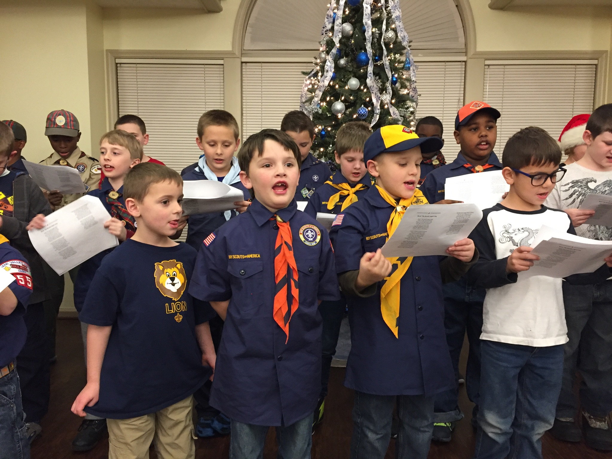 Cub Scouts Sing for the seniors at Spring Hills Singing Woods2