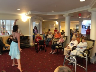 Residents Engaging in Intergenerational Programs